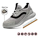 TBDLG Zapatos de Seguridad, Unisex Zapatillas de Seguridad con Puntera de Acero Trabajo Transpirables Antideslizante Ligeras Comodas,40EU