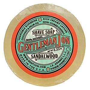 Gentleman Jon Sandalwood Shave Soap; Glycerine 2.25oz 9