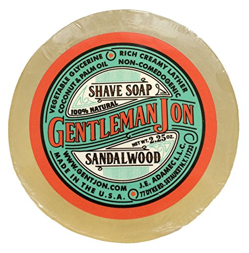 Gentleman Jon Sandalwood Shave Soap; Glycerine 2.25oz by Gentleman Jon