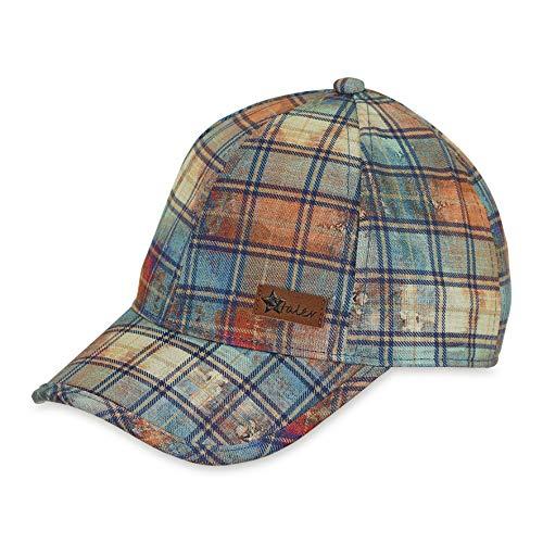 Sterntaler Baseball-Cap für Jungen mit Größenregulierung, Karomuster und Vintage-Look, Alter: 2-4 Jahre, Größe: 53, Samtblau
