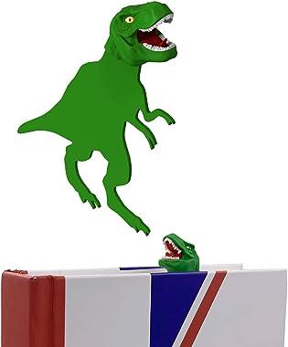 OYLZ Unique Cool T-Rex Dinosaur Bookmark 3D Book Mark Bookmarker for Kids Boys Girls Men Women (Green)