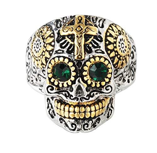 Ringen mannen en vrouwen creatief titanium staan Mexico dag van de dode schedel ring kleding accessoires vakantie geschenken het perfecte cadeau No11 zoals afgebeeld