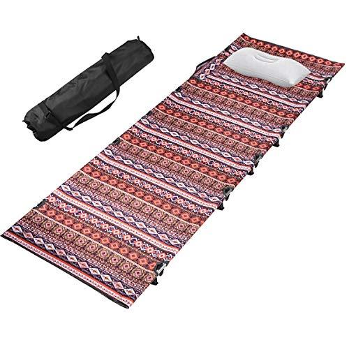 キャンプ コット アウトドア ベッド 折りたたみ キャンプ用ベッド コット 簡易ベッド コンパクト 超軽量 耐荷重150kg 長さ185×幅60×高さ13cm 枕と収納バッグ付き 防災 (赤)