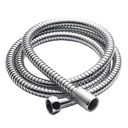 ESYN 1.2m / 1.5m / 2m / 2.5m Chrome Doccia tubo flessibile in acciaio inox sostituzione del tubo del tubo flessibile doccia (2.5m Shower Hose)