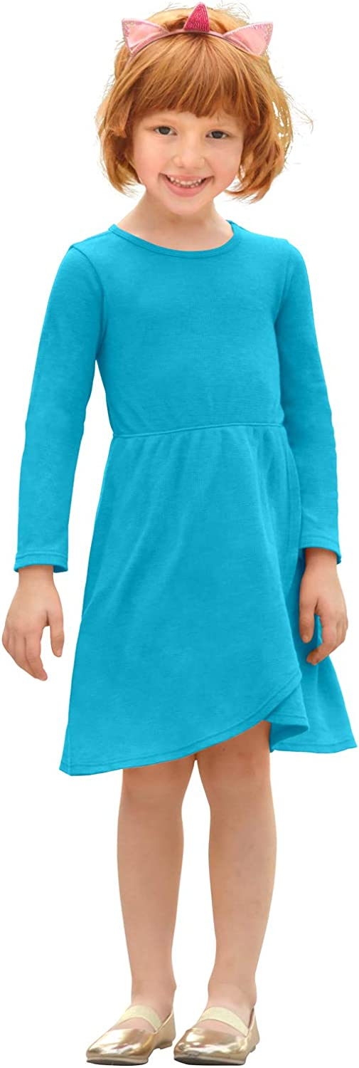 City Threads Girls Cross Skirt Thermal Long Sleeve Dress - Party, School or Play - Made in USA