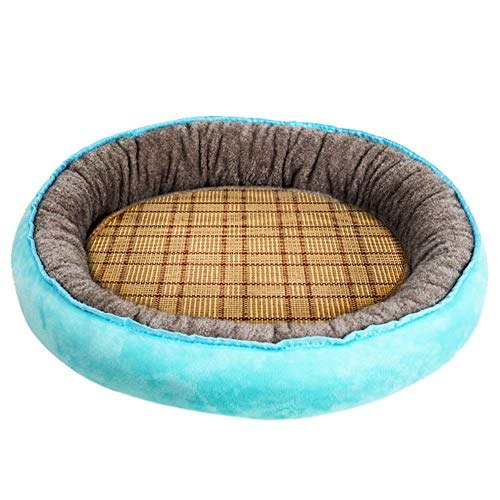 SimidunEUR SuperSoft Beds Fleece Lined Warm Dog Bed,Lake Blue 2,XL (70 * 60CM)