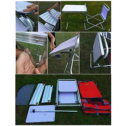 51XXYdfqfNL - Klappbarer Camping-Tisch Tragbarer Picknicktisch Aluminiumlegierung 1680D Oxford-Stoff Mobiler Küchentisch Kochtisch Aufbewahrungstisch für Gartenpatio BBQ Party lili