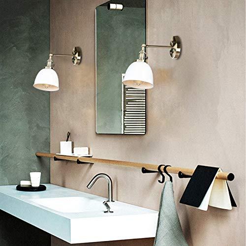 Yosoan Wandleuchte Antik Deko Design innen Wandbeleuchtung Vintage Industrie Loft-Wandlampen Wandbeleuchtung (Weiß)