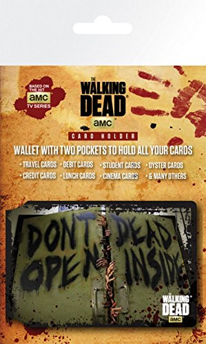 1art1 The Walking Dead, Don't Open, Dead Inside Tarjeteros para Tarjetas De Crédito (10x7 cm) Y 1x Pegatina Sorpresa