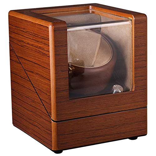 CARLAMPCR Automatic Watch Winder Watch Box, 5 Rotating Modes, Wooden Watch Winder Box, Suitable for Most Automatic Watches