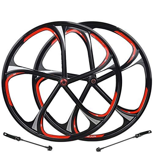 DMMW-Sports Fahrrad Laufrad 26 Zoll Magnesium Alloy One Rim Mountainbike-Karte Typ Rotary One Wheel Magnesium 5/6 Lager EIN Rad Fahrradteile