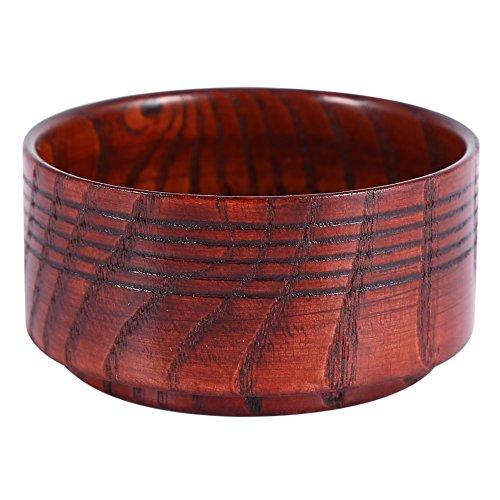 Cuenco de madera para jabón de afeitar, para jabón de afeitar, taza para taza, herramienta natural para hombre, afeitadora de afeitar, espuma limpiadora redonda