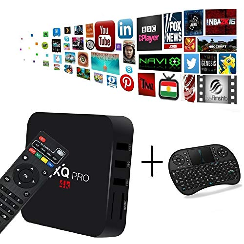 [Free Wireless Mini Keyboard] MXQ Pro Android TV Box Android 7.1 TV Box Amlogic S905w Quad-Core CPU 1GB RAM/8GB ROM with WiFi