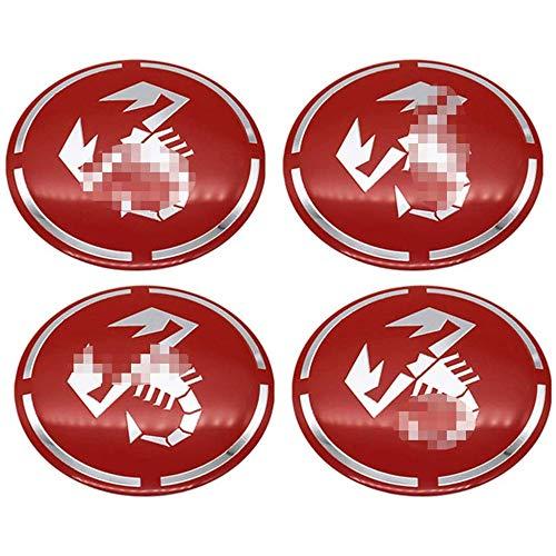 4 piezas rueda coche Llanta centro Hub Cap Badge Trim Sticker Tapas...