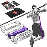 Bandas de Resistencia Elástica + Guía de Entrenamiento | Pull Up Bands Yoga Pilates Calistenia Deporte | Banda de Tracción para Musculacion Fitness y Estiramientos | Gimnasio en casa Ejercicio Gym