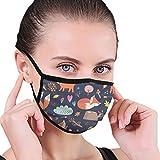 Sin fisuras cómic dibujos animados lindo zorro vector tela media cara máscara bucal máscaras con orejeras anti polvo anti niebla máscara a prueba de viento