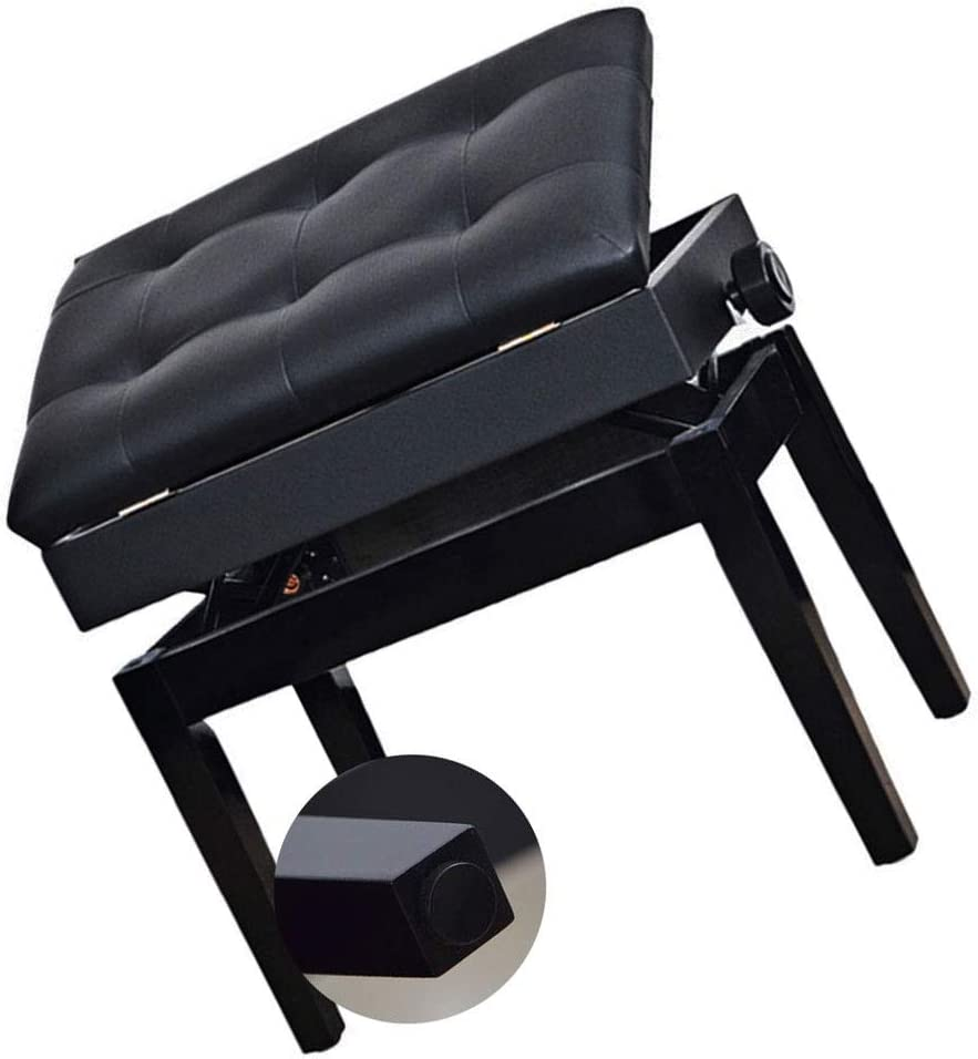 Albuquerque Mall Max 49% OFF TBSHX Piano Chair Stool with Storage S Padded