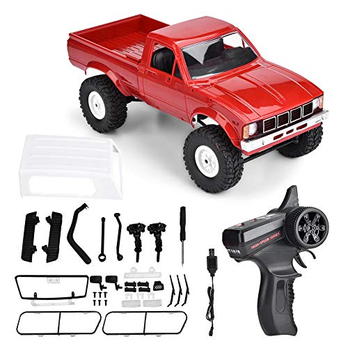 Dilwe RC Off-Road Car, 4 Channels 2.4GHz Remote Control Cross Country Vehicle Off Road Truck for Kids and Adults The Gift for Children(Red)(Red)
