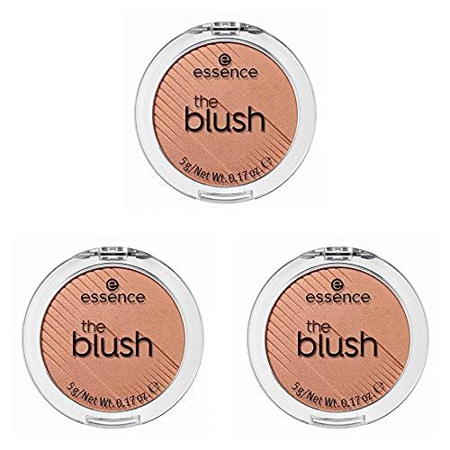 essence the blush, Rouge, Nr. 20 bespoke, braun, langanhaltend, scheinend, vegan, Nanopartikel frei, entspricht unserem CLEAN BEAUTY Standard, 3er Pack (3 x 5g)