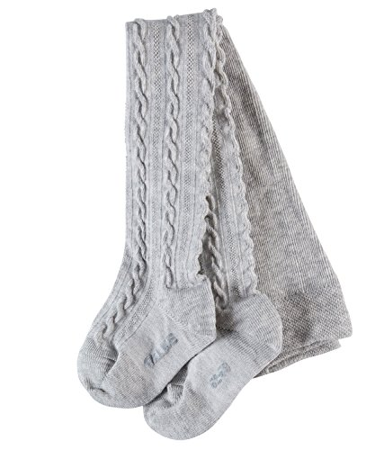 FALKE Babys Strumpfhosen Cable, Baumwollmischung, 1 Stück, Grau (Stormy Grey 3822), Größe: 74-80