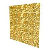 Panel Divisorio de 25 Piezas - 161.5x202cm - Amarillo Panel De Separador Pájaro Separadores Ambientes Panel para Dormitorio, Sala De Estar, Baño, Decoración, Estantes Columpios