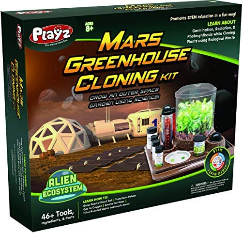 Playz Mars Greenhouse Cloning Kids Science Kit Grow an Outer Space Indoor Garden with Multiple product image