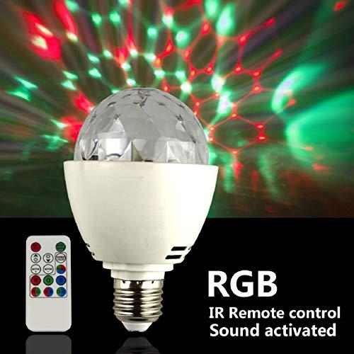 Discokugel E27 RGB LED Partybeleuchtung Lichteffekte Bühnenlampen Glühbirnen Partylicht Lampe Fernsteuerung für Geburtstagsparty Hochzeitsfest Weihnachten