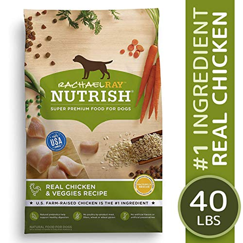 Rachael Ray Nutrish Premium Natural Dry Dog Food, Real Chicken & Veggies Recipe, 40 Pounds