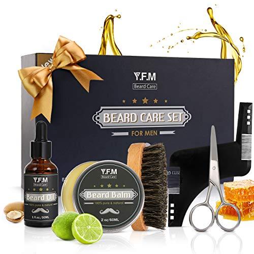 Y.F.M Kit de Cuidado de Barba, Regalo de Cuidado Barba - 30ml Aceite d