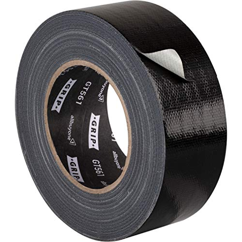 GRIP Eventbasics GT 561 Gaffa Tape schwarz 50 mm x 50 m, Allround Reparaturband mit starker Klebkraft