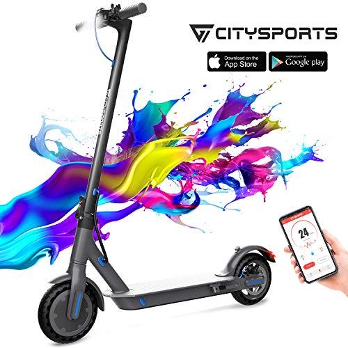 CITYSPORTS Elektroroller 8,5 Zoll, E-scooter Faltbarer Roller mit APP & Bluetooth, Akku 7,5 Ah Langlebig, 350 W, Elektro Scooter Erwachsener Ultraleicht
