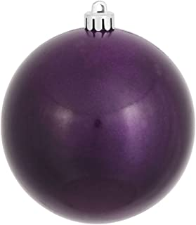 Vickerman Candy Finish Seamless Shatterproof Christmas Ball Ornament, UV Resistant with Drilled Cap, 12 per Bag, 3