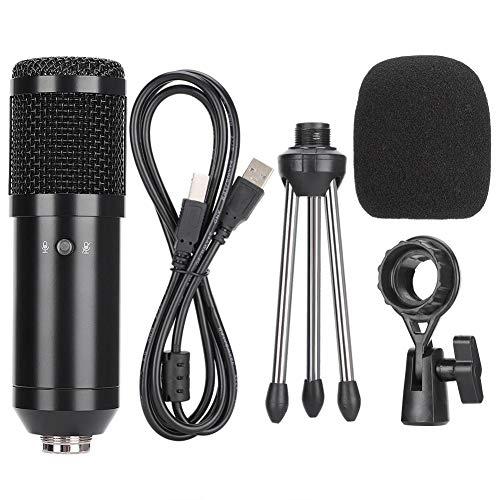 Bewinner1 USB-Kondensatormikrofon, kostenloses Multifunktionsmikrofon mit Stativ, rauscharme Universalmikrofoneinheit, Professionelles Kondensatormikrofon für Aufnahme/Karaoke