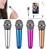 Laser man-Mini Microphone with Omnidirectional Stereo Mic for Voice Recording,Chatting and Singing on Apple Phone,Android (Silver)