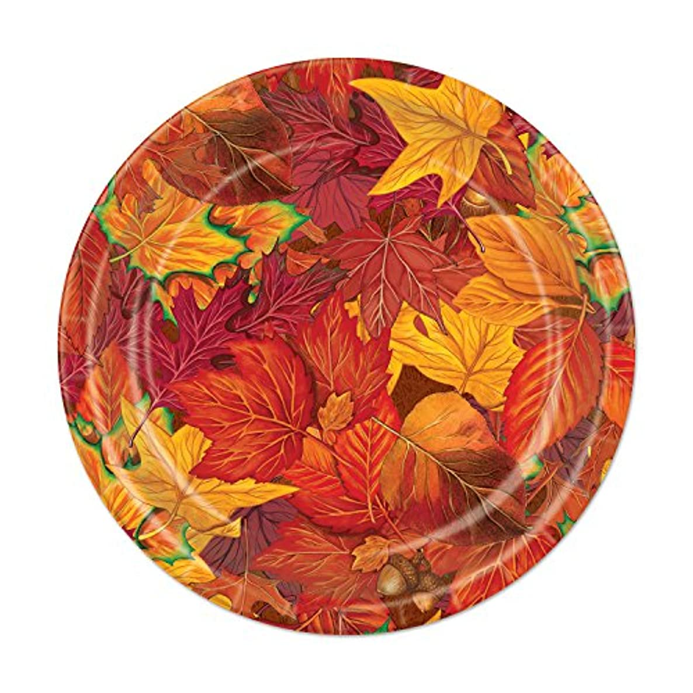 Beistle 90810 Fall Leaf Plates (8 Pack), 7