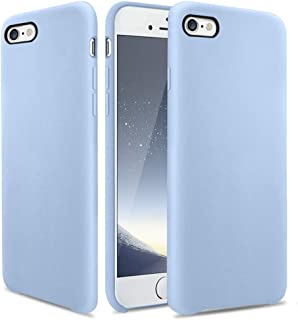 OCYCLONE iPhone 6s Case, [Ultra-Thin Series] Liquid Silicone iPhone 6 6s Case Rubber Shockproof with Soft Microfiber Cloth Cushion Blue Slim Fit for Apple iPhone 6 6s Protective Case - Light Blue
