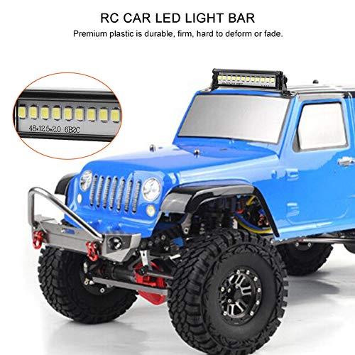 Dilwe RC Auto LED Lichtleiste, 155mm RC Crawler LED Lichtleiste LEDs Lampe für TRX4 90046 90048 SCX10 1:10 Fernbedienung Auto RC Teile