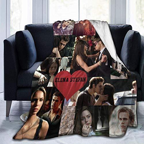 The Vampire Series Diaries Coperte Coperta in pile di flanella pelosa Novità regalo per fidanzato Fidanzata Moglie Elena Stefan Bacio Cuore d amore Peluche Morbido per divano picnic