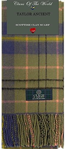 I Luv Ltd Taylor Ancient Tartan Clan Scarf 100% Soft Lambswool