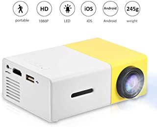 Fosa Mini Projector Portable 1080P LED Projector Home Cinema Theater Indoor/Outdoor Movie projectors Support Laptop PC Sma...