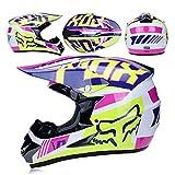 Casco de motocross WSJ para adultos, gafas o máscaras, casco completo para bicicleta de montaña, casco de equitación DOT estándar, casco para niños, quad, bici, ATV Go, verde, XL, verde, small