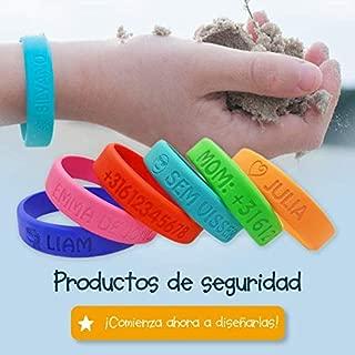 Pulsera personalizada SOS para niños de silicona -
