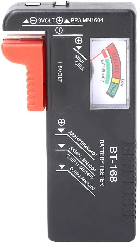 Household Deep Cycle Battery Tester Battery Checker Tester Digital Battery Tester for 1.5V Aa Battery Aaa Battery