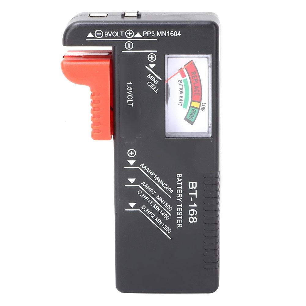 BT-168 Digital Battery Capacity Volt Tester LCD Volt Checker for 1.5V AA AAA 9V Battery