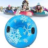 Deslizadores Hinchables de Nieve, Trineo Hinchable de Nieve Tubo de Esquí Inflable con Manijas Grande Snow Tube Juguetes de Nieve Invierno para Niños y Adultos 47'