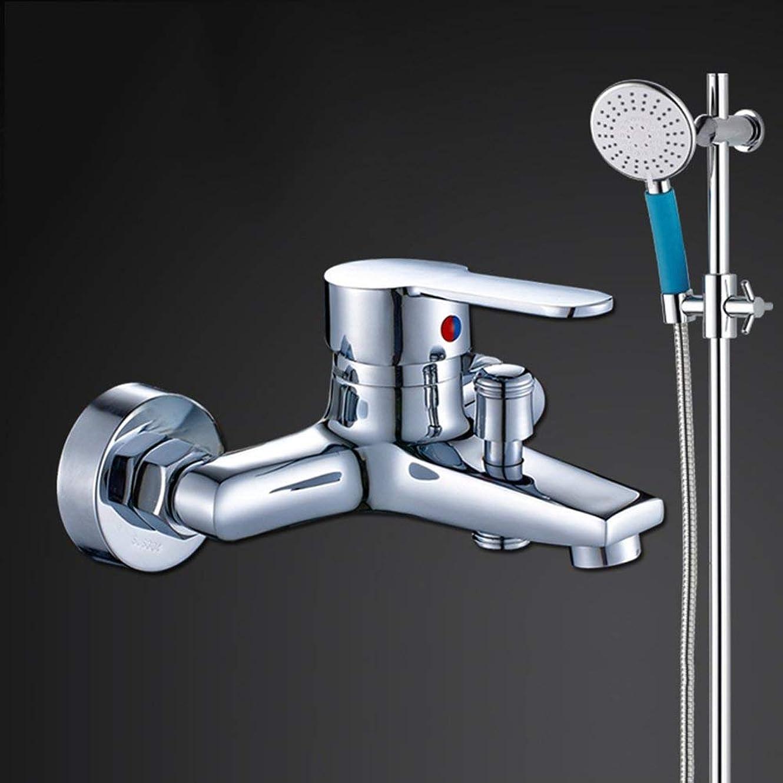 先住民交換可能欲しいです実用的なハンドシャワー 混合バルブ浴室の蛇口シャワーを隠したシャワーセット (Color : 2)