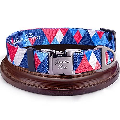 Collar Perro Grande Premium con Cierre Metálico, Seguro y Ajustable. Collares para Perros y Cachorros Cómodos, Modernos y de Diseño. Serie New York.