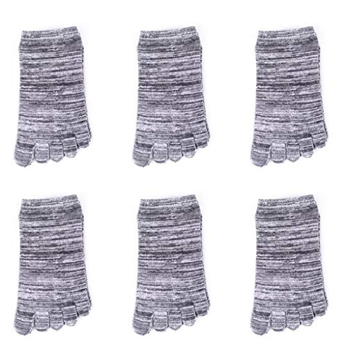 Barco calcetines de algodón calcetines del dedo del dedo del pie de los hombres del verano de sudor absorbente Calcetines de hombre Calcetines dedo de Split bajo corte superficial Calcetines Mecha