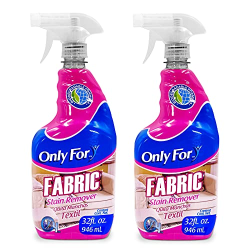 Only For Fabric Cleaner - 2 Pack x 32 Fl Oz - Multi Fabric Stain Remover - Perfect for Sofa, Couches, Carpets, and Upholstery