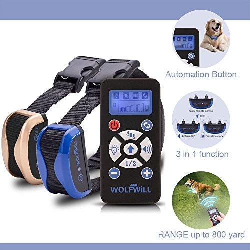 WOLFWILL Anti Bell Hunde Erziehungsband,Traininsband mit 2 Halsbände